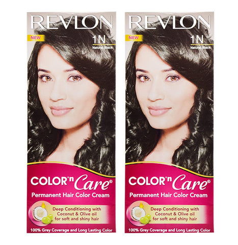 Revlon Combo of Color N Care Hair Color - Natural Black 1N