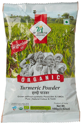 Buy 24LM ORGANIC TURMERIC POWDER 100 gms x 2 (200 gms) online for USD 16.44 at alldesineeds