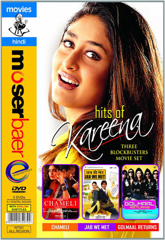 Buy Kareena Big Collection (Chameli/Jab We Met/Golmaal Returns) online for USD 14.44 at alldesineeds