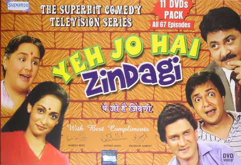 Buy Yeh Jo Hai Zindagi - 11 DVDs Pack (all 67 Episodes) online for USD 28.61 at alldesineeds