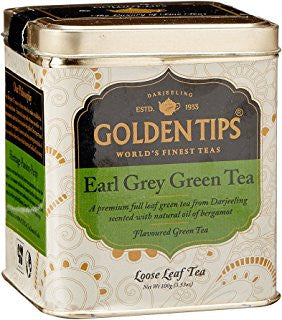 Earl Grey Green Tea - Golden Tips 100 gms