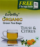 Organic Green Tea - Tulsi & Citrus - 25 TBs - Eco Valley