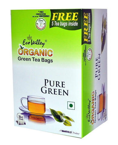 Organic Green Tea - 25 TBs - Eco Valley