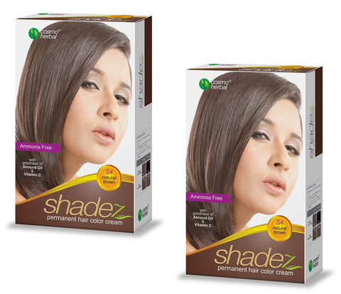 Buy 2 Pack Shadez Permanent Hair Color Cream, Natural Brown 50g online for USD 8.95 at alldesineeds