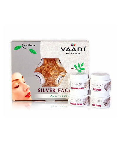 Buy Silver Facial Kit - Pure Silver Dust, Rosemary & lavender Oil, Sandalwood online for USD 18.73 at alldesineeds
