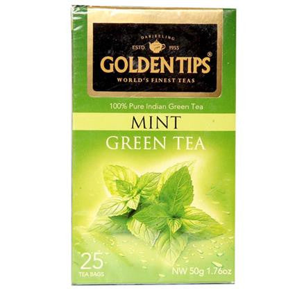 Mint Green Tea - Golden Tips 50 gms each