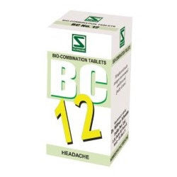 Buy 3 X Schwabe Homeopathy Bio Combination 12 for Headache. online for USD 27.99 at alldesineeds