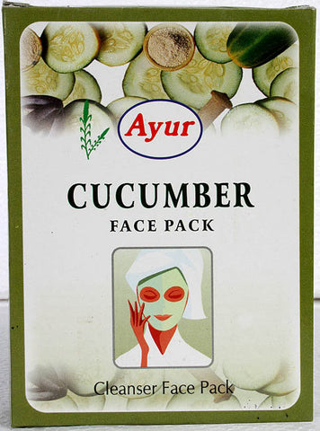 Buy Ayur Cucumber Face Pack 100gmpack Of 2 (200 gms) online for USD 15.44 at alldesineeds