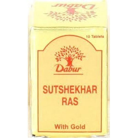 Dabur Sutshekhar Ras 10tablets combo of 5 packs - alldesineeds