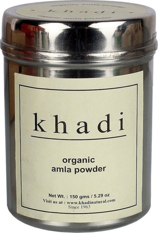 2 Pack Khadi Organic Pure Amla hair Powder 150 gms each - alldesineeds