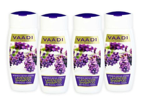 Buy 4 Pack Vaadi LAVENDER SHAMPOO 110 ml each online for USD 11.95 at alldesineeds