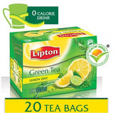 Lipton Green Tea Lemon Zest Tea Bags 20