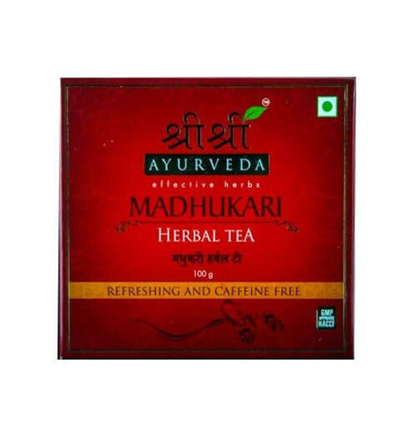 Buy 2 x Sri Sri Ayurveda  Madhukari Herbal Tea - Refreshing and Caffine Free 100 gms each online for USD 12.5 at alldesineeds