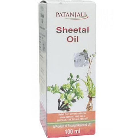 2 Pack Divya Patanjali Sheetal Oil - 100ml (Total 200 ml) - alldesineeds