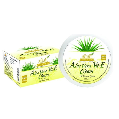 Buy 2 x Sri Sri Aloevera & VitECream 100g each online for USD 14.23 at alldesineeds