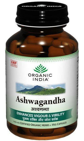 Buy Organic India Ashwagandha 60 Capsules X 2 (2Pack) online for USD 17.74 at alldesineeds