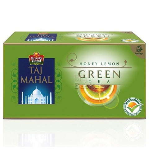 Taj Mahal Honey Lemon Green Tea Bags 25 Tea Bags
