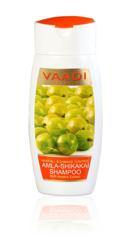 Buy 4 Pack Amla Shikakai Shampoo-Hairfall & Damage Control 110 ml each (Total 440 online for USD 19.55 at alldesineeds