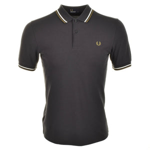 Fred Perry Polo T Shirt Twin Tipped - Grey