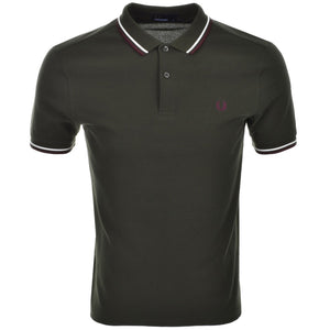 Fred Perry Polo T Shirt Twin Tipped - Green