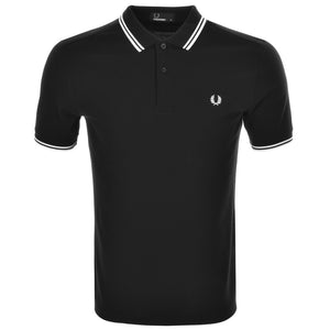 Fred Perry Polo T Shirt - Twin Tipped - Black