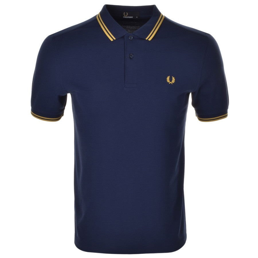 Fred Perry Polo T Shirt - Navy Twin Tipped