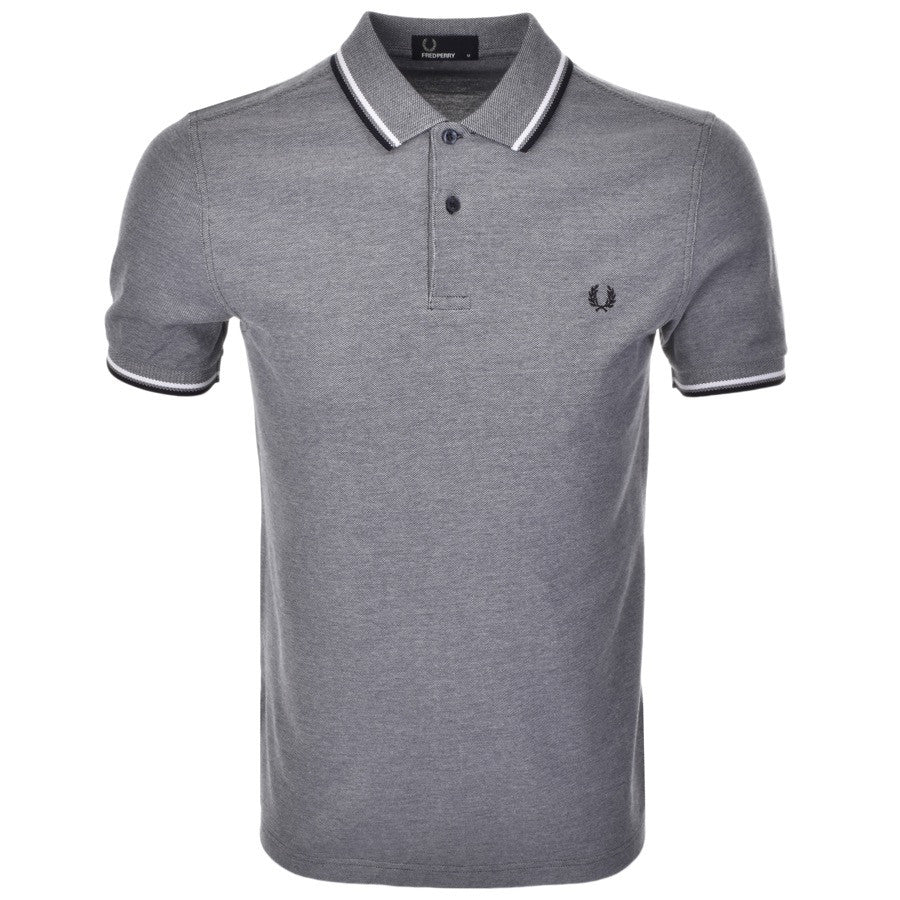 Fred Perry Polo T Shirt - Blue Twin Tipped