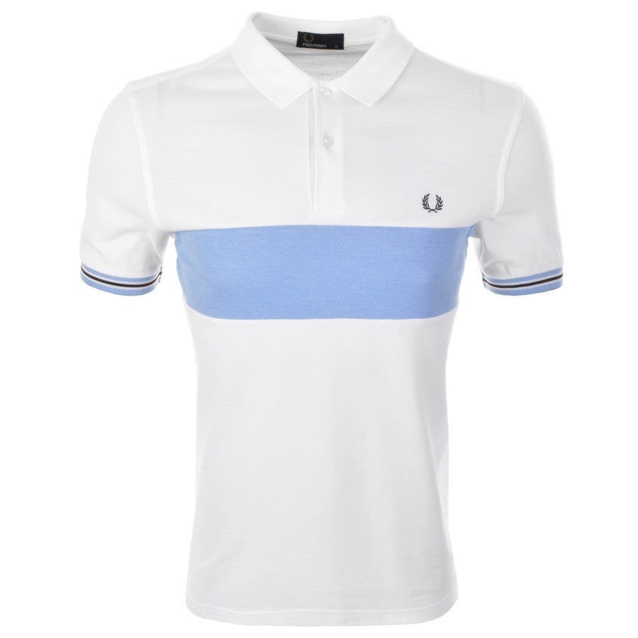 Fred Perry Polo T Shirt - Oxford Panel - White