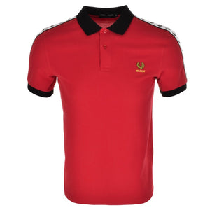 Fred Perry Polo T Shirt Red - Belgium