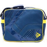 Dunlop Blue & Yellow Retro Perforated Messenger Shoulder Bag