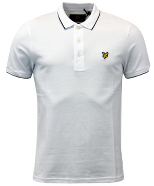 LYLE & SCOTT Vintage 60s Woven Collar Oxford Polo