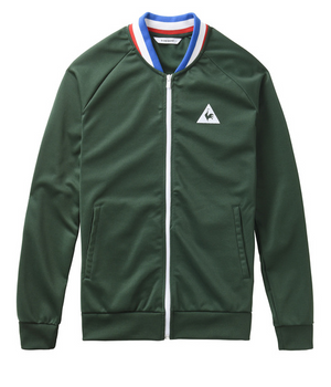 le coq sportif ASSE Full zip - Track Top - Dark Green