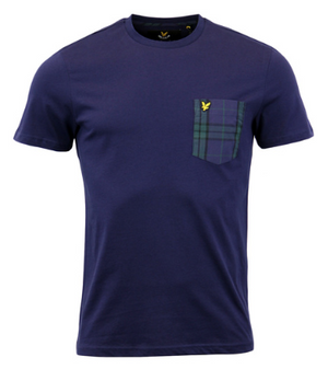 LYLE & SCOTT Retro 1960s Mens Tartan Pocket Tee