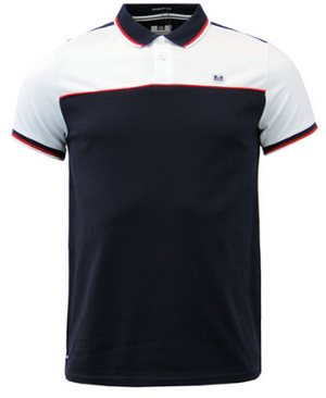WEEKEND OFFENDER Retro 80s Panel Polo