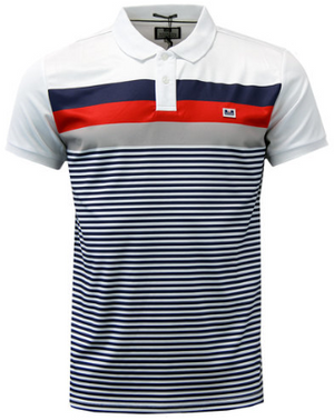 WEEKEND OFFENDER Casuals Stripe Polo