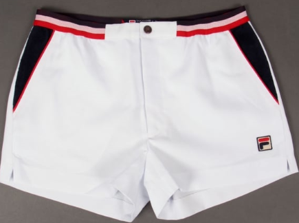 FILA VINTAGE Shorts - White/navy/red