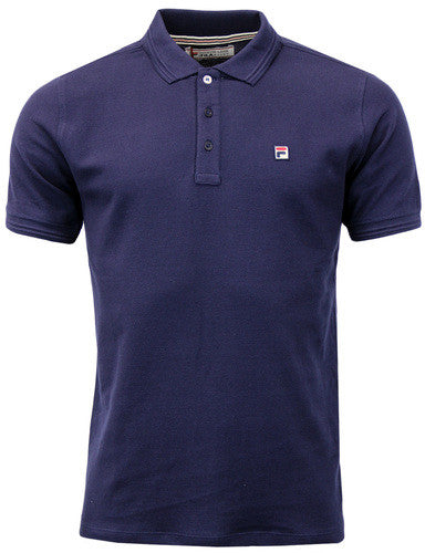 Fila Vintage Polo T Shirt - Navy