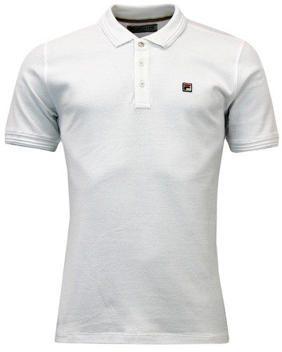Fila Vintage Polo T Shirt - White
