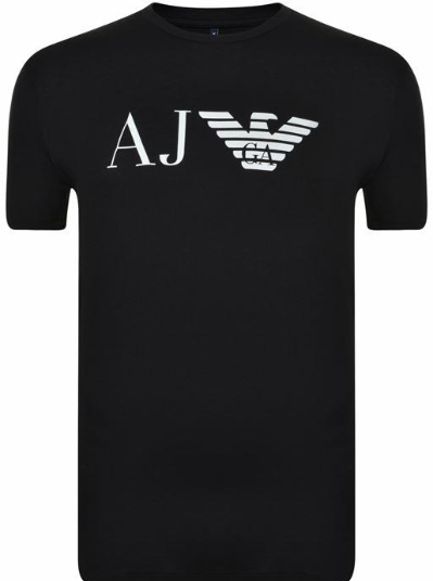 ARMANI JEANS Eagle Logo T Shirt - Black