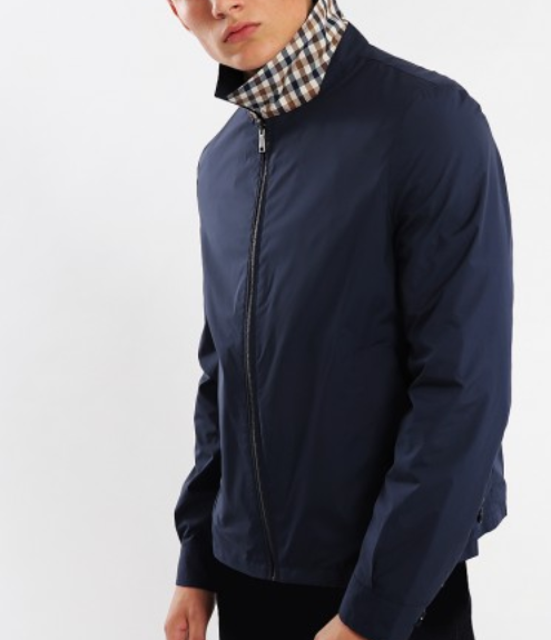 Aquascutum Reversible Brackenbury Jacket Navy