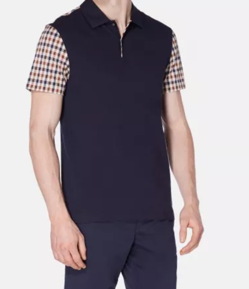 RUTLAND VICUNA DETAIL POLO - Dark Navy
