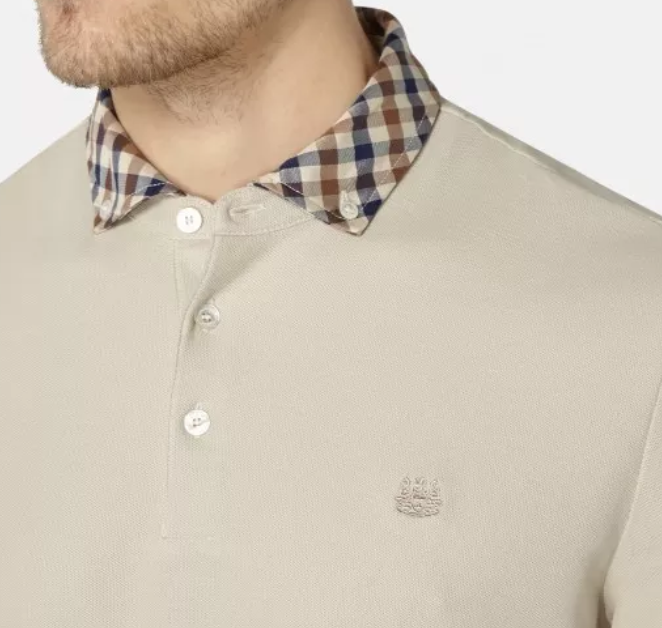 CONISTON CLUB CHECK COLLAR POLO - Beige