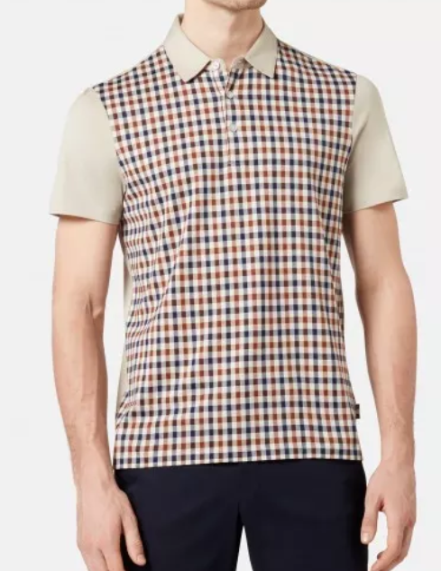 Aquascutum Dillon Club Check Short Sleeve Polo