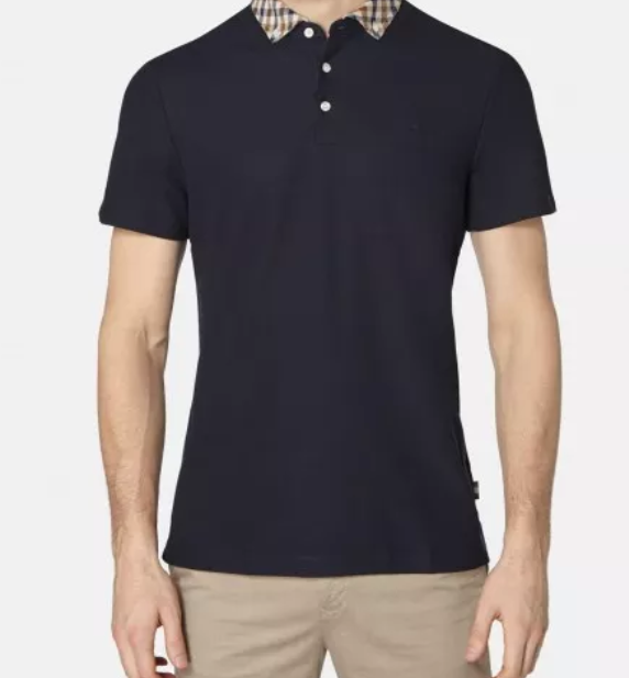 CONISTON CLUB CHECK COLLAR POLO - dark navy