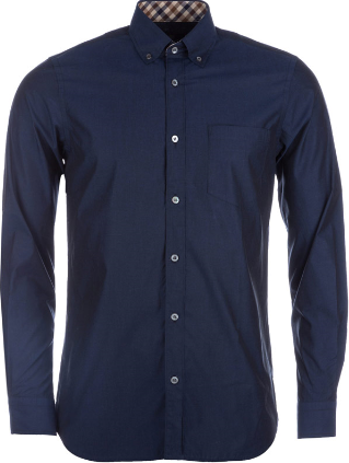 Aquascutum Eshton long sleeve shirt - Navy