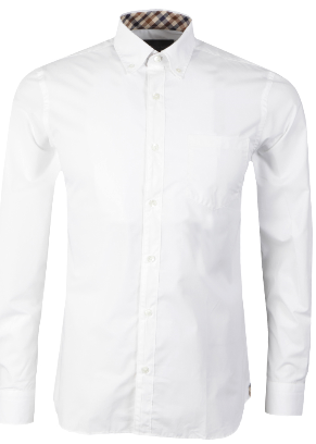 Aquascutum Eshton long sleeve shirt - White