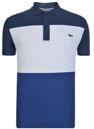 Lacoste SHORT SLEEVE BLOCK POLO SHIRT - Blue / White