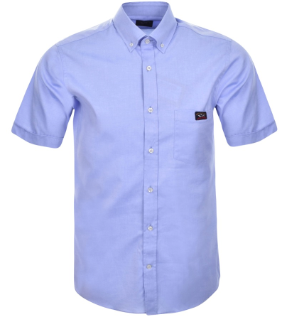 Paul & Shark Short Sleeved Shirt - Blue