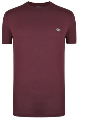 Lacoste SHORT SLEEVE T SHIRT -Burgundy