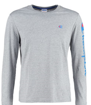 Champion Retro Long sleeved top - Mottle Grey
